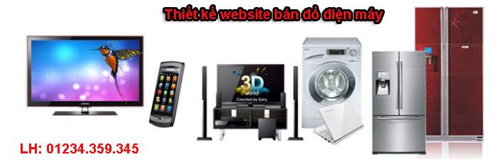 thiết kế website bán đồ điện máy