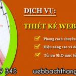 Thiết kế website chuẩn Seo cùng Web Bách Thắng