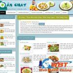 Thiết kế website bán đồ ăn chay chuẩn seo chuẩn di động