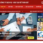 Thiết kế website dịch vụ kế toán giá rẻ uy tín