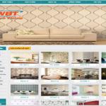 Thiết kế website bán giấy dán tường đẹp mắt giá rẻ
